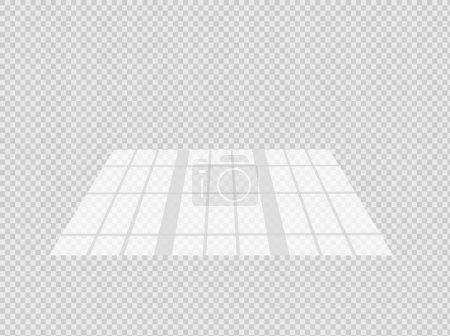 Illustration pour Effet d'ombre superposé. Fenêtre transparente superposée et stores ombre. Effet de lumière réaliste des ombres et de la lumière naturelle sur un fond transparent. - image libre de droit