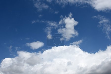 Beautiful blue clouds on the sky