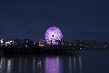 Long Exposure shot to Santa Monica Pier at Los Angeles, California, USA