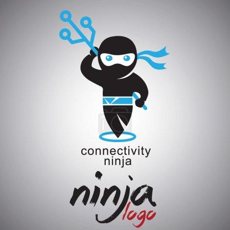 ninja logo design