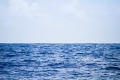 Blue sea sky. Beautiful seascape background.