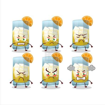 Illustration pour Singani personnage de bande dessinée avec diverses expressions en colère. Illustration vectorielle - image libre de droit