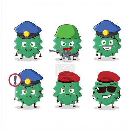 Illustration for A dedicated Police officer of haploviricotina mascot design style. Vector illustration - Royalty Free Image