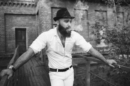 Bearded handsome man