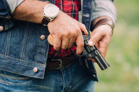 Cowboy man with gun