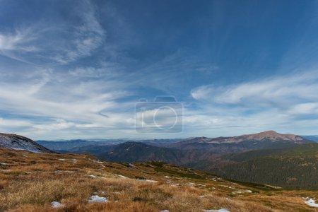 View of Carpathian mountains