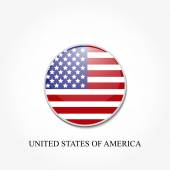 American flag in a circle on a white gray background