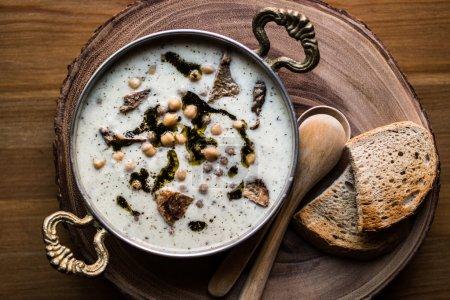 Turkish Yuvalama Soup.