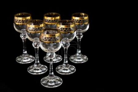 Crystal glasses. Holiday dishes