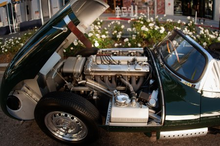 Photo for Close up of motor of 1960s sports car in beverly hills cal 5/23/2016 - Royalty Free Image