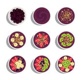 Delicious and healthy menu of acai bowl flavors variation