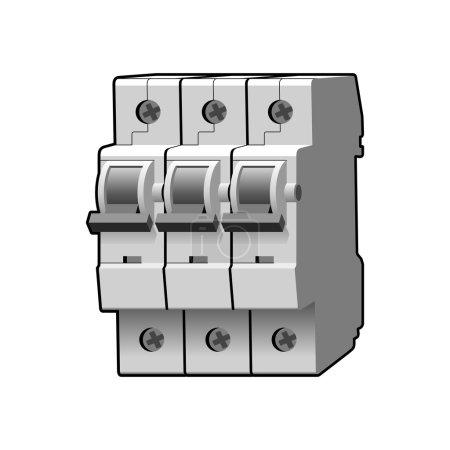 Molded case circuit breaker. Multi-pole. Modular