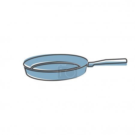 Photo for Vector image of frying pan. Kitchen Appliances vector on cartoon style on white isolated background. Layers grouped for easy editing illustration. For your design. - Royalty Free Image