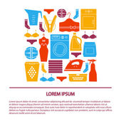 various elements of  laundry