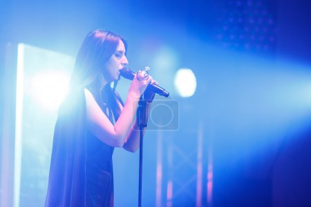 "The famous Ukrainian singer Jamala gave a concert presenting her new album ""Podykh"" (Breath)"