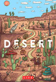 Wild life in desert with animals birds and plants