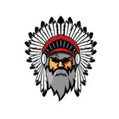 Indian Chief Head Mascots