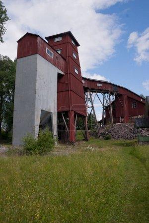 Bâtiments d'une ancienne mine de fer dans le Varmland, Suède