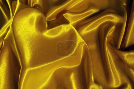 Texture satin cloth with the image of heart
