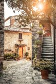 Narrow old street in Montefioralle village