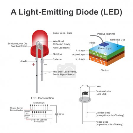 A light emitting diode (LED) is a two lead semicon...