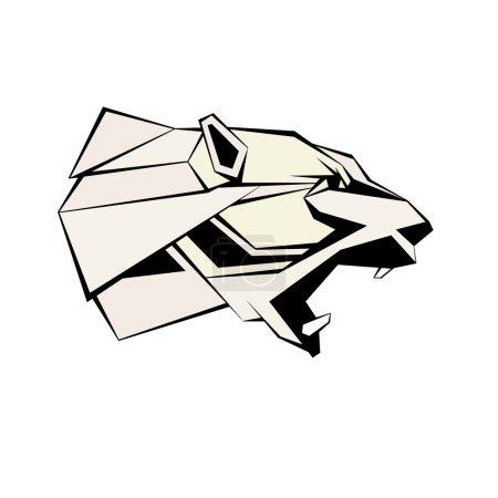 Illustration for Polar bear head vector illustration geomrtric style - Royalty Free Image