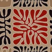 Vektorové vzorové včetně etnických australský motiv s vícebarevné typické prvky