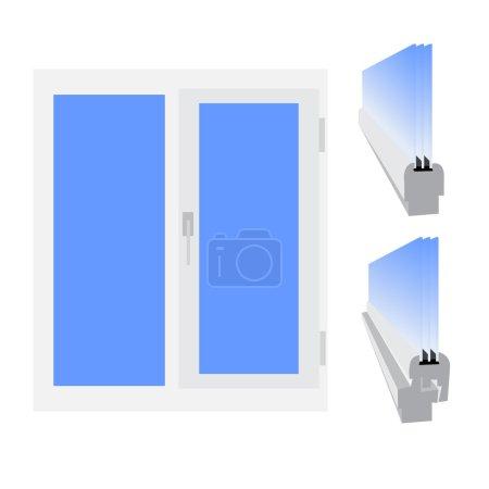 Plastic window. Vector illustration