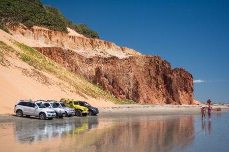 cars on Ponta Grossa Beach
