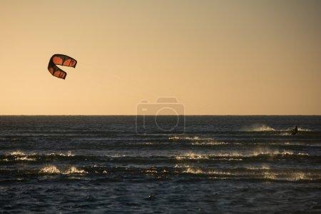 Kitesurfer on  Jericoacoara Beach