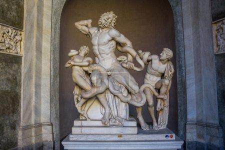 statue de Laocoon et ses fils à Rome