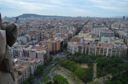 Blick von der Kathedrale Sagrada Familia