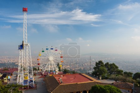 big ferris wheel  on  Tibidabo