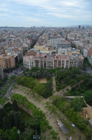 view from  Sagrada Familia Cathedral