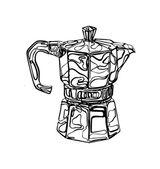 Coffee Percolator clip art hand drawn vector element