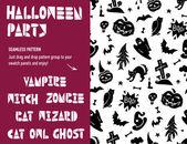 Halloween Party Seamless Pattern