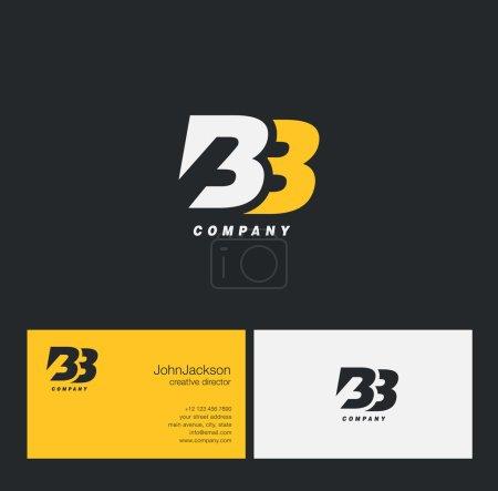 Illustration pour Logo de lettre avec modèle de carte de visite, B et B, BB, vecteur - image libre de droit