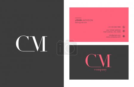 CM Letters Logo Business Cards