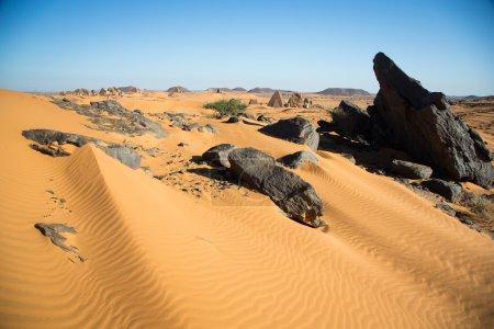 Meroe Pyramids in the desert
