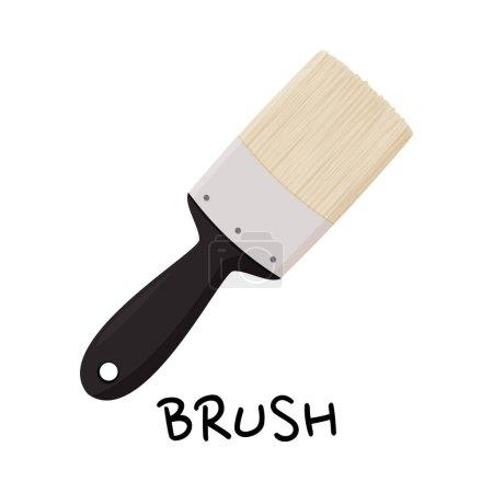 Illustration pour Outil à main pour réparation isolé sur fond blanc. Illustration vectorielle brosse large. - image libre de droit