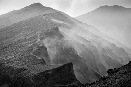 Photo for Beautiful mountain landscape in Iceland,monochrome photo - Royalty Free Image