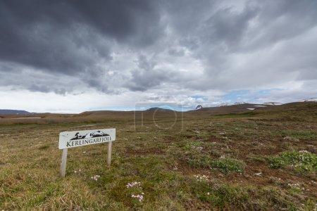 Keringarfjoll road sign